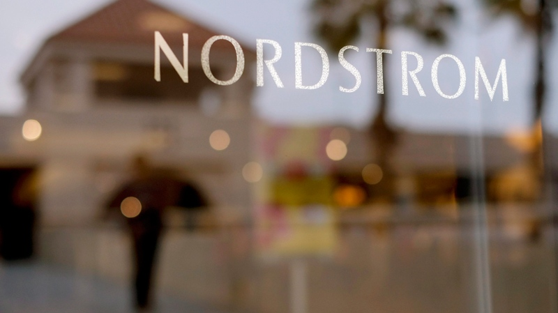 This May 9, 2013 file photo shows a Nordstrom sign at a shopping mall in Brea, Calif. (AP Photo/Jae C. Hong, File)