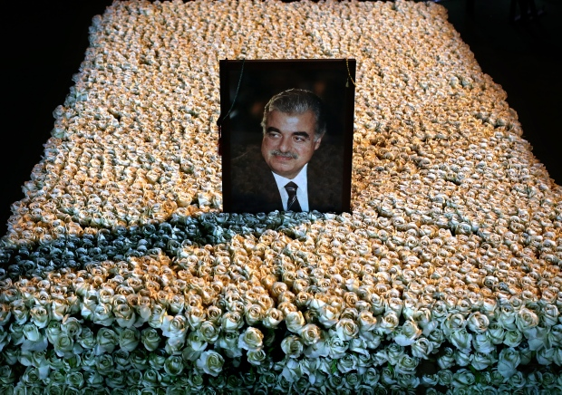 Memorial for slain Lebanese PM Rafik Hariri