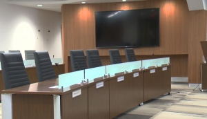 The boardroom at the Waterloo Region District School Board's Kitchener headquarters is seen on Wednesday, Jan. 15, 2014.