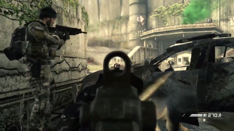 "A screenshot from the game ""Call of Duty"" is seen."