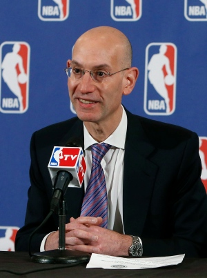 NBA Deputy Commissioner Adam Silver speaks during a news conference before the NBA basketball draft lottery, Tuesday, May 21, 2013 in New York. (AP / Jason DeCrow)