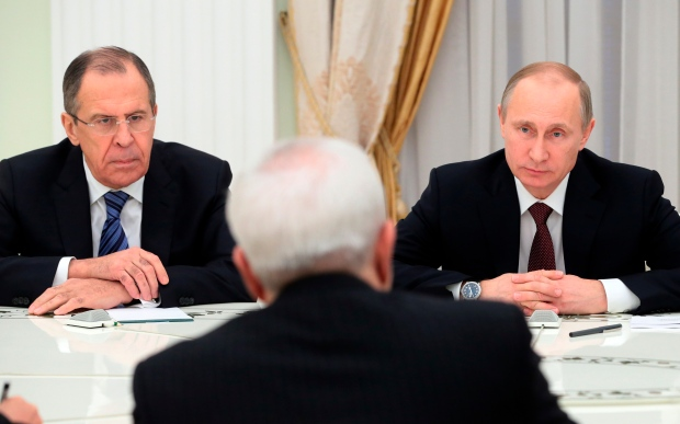 Russian President Putin in meeting with Iran