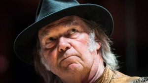 Singer Neil Young said Thursday that the Keystone XL pipeline makes no sense since the oilsands bitumen would be sent to China. (CP / Mark Blinch)