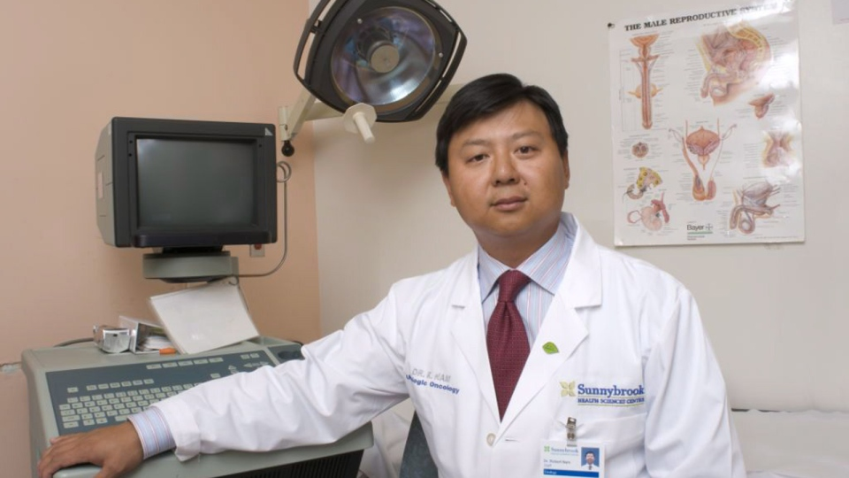 Dr. Robert Nam, a urologic-oncologist at Sunnybrook's Odette Cancer Centre, is shown in a handout photo. Nam says before patients make a choice, it's important they understand all the risks associated with each treatment, to maximize their quality of life. (THE CANADIAN PRESS / HO-Sunnybrook)