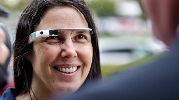 Cecilia Abadie wears her Google Glass