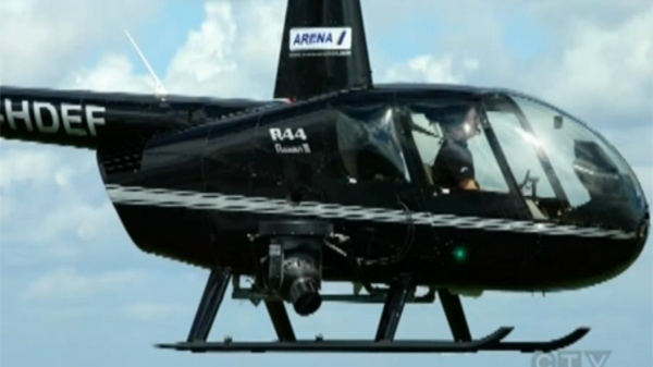 The helicopter was a Robinson R44, similar to this.