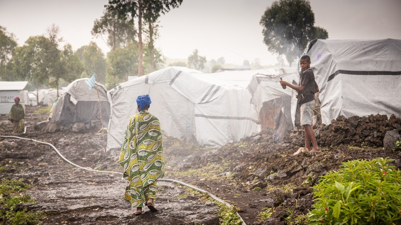 More than 53,000 people live in this camp for people displaced by the ongoing civil war in the Democratic Republic of Congo. (Paul Bettings/World Vision Canada)