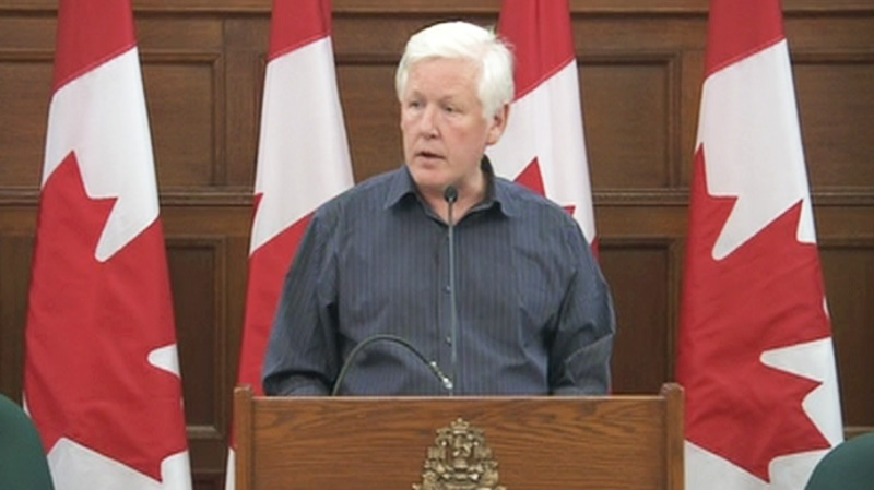 Liberal interim leader Bob Rae speaks to Liberal caucus at a strategy session in Ottawa, Monday, Aug. 29, 2011.