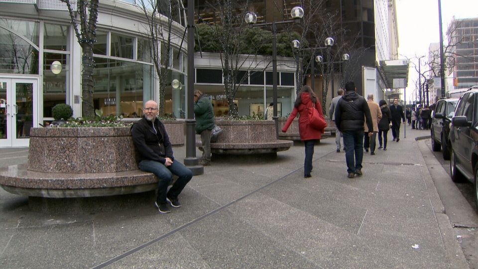 Colin Easton says he started a project to talk to one stranger each day of 2014 to help change Vancouver's reputation as an unfriendly city. Jan. 17, 2014. (CTV)