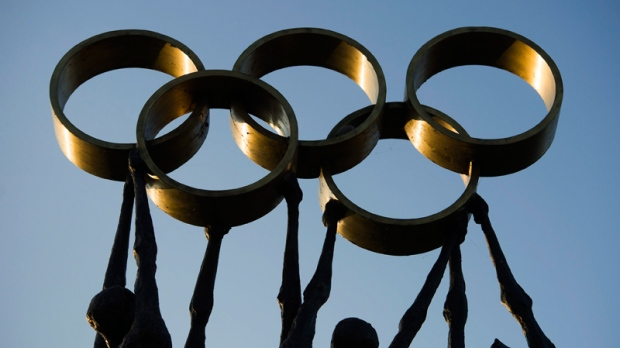 Olympic rings in Lausanne, Switzerland