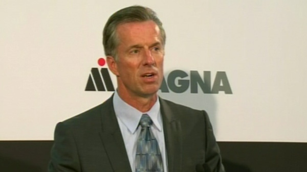 Donal Walker, chief executive officer of Magna International Inc., speaks in Brampton, Ont. on Monday, Aug. 29, 2011.