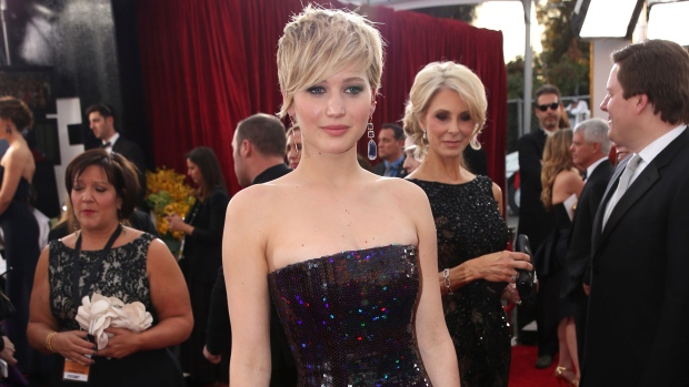 Jennifer Lawrence arrives at SAG
