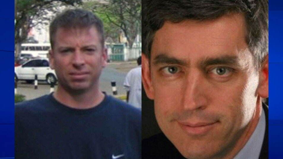 Martin Glazer, left, and Peter McSheffrey, right, were killed in a suicide bombing in Kabul, Afghanistan on Friday, Jan. 17, 2014.