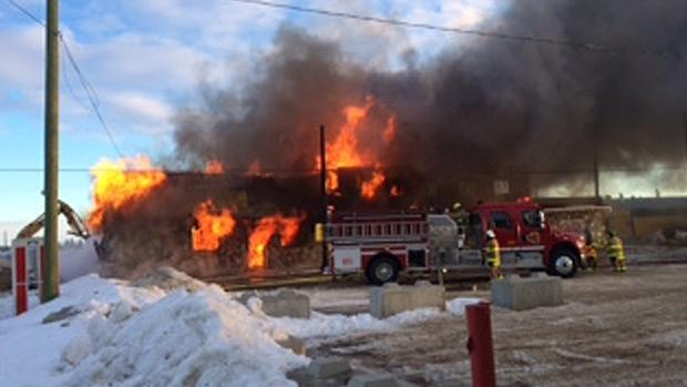 Alberta village loses landmark to fire | CTV Edmonton News