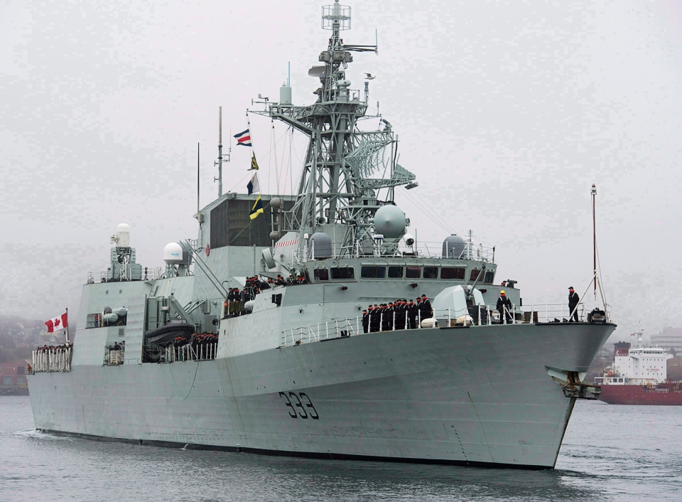 HMCS Toronto is pictured in Halifax on Monday, Jan.14, 2013. (Andrew Vaughan / THE CANADIAN PRESS)