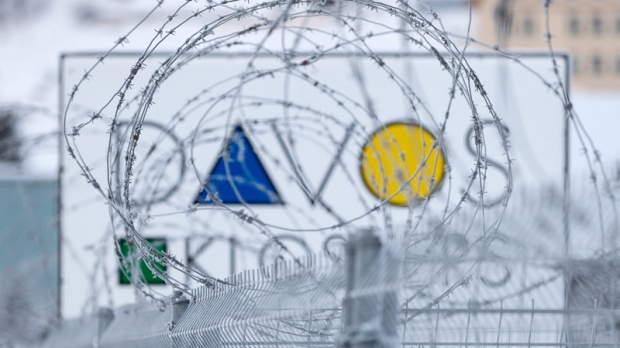 Fence at the World Economic Forum in Davos