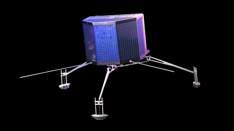 This undated image provided by the European Space Agency ESA shows an artist's impression of the Philae lander. (AP Photo/ESA ATG medialab , Astrium E, Viktor, File)