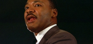Martin Luther King Jr. speaks in this April 15, 1967 file photo at a peace rally in New York. (AP Photo/File)