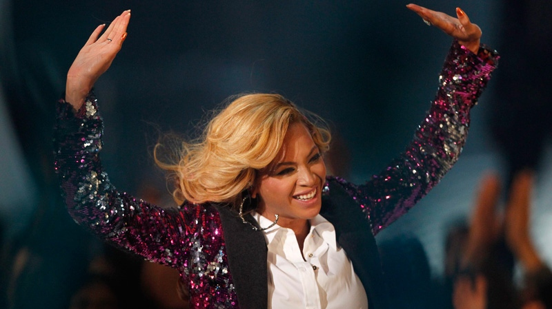 Beyonce performs at the MTV Video Music Awards on Sunday Aug. 28, 2011, in Los Angeles. (AP / Matt Sayles)
