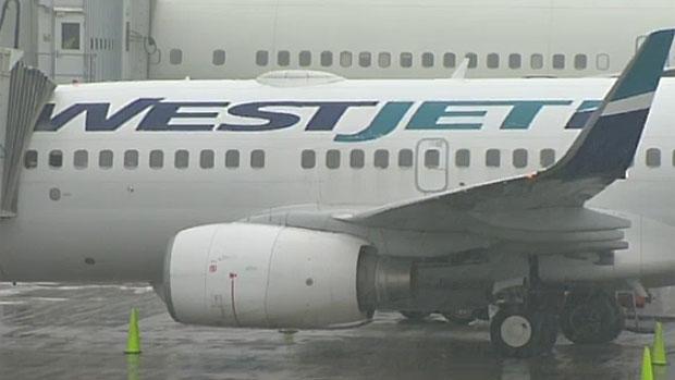 A WestJet plane in shown in a file photo.