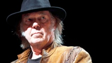 Neil Young speaks about concert tour in Calgary