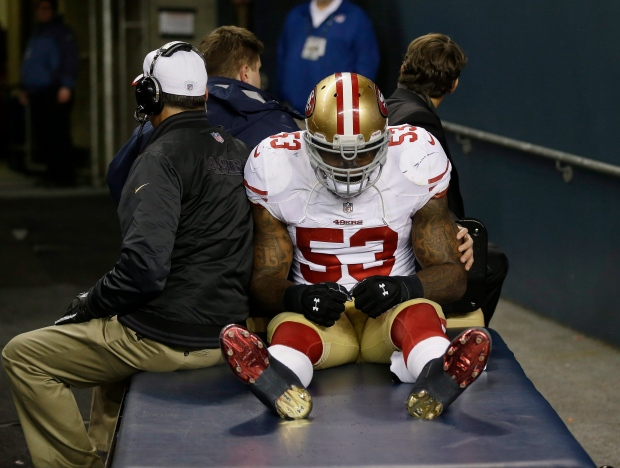 NaVorro Bowman sustained knee injury