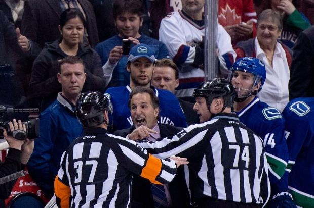 Vancouver Canucks coach John Tortorella suspended