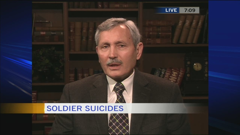 Dr. Jacques Gouws speaks to CTV's Canada AM about the recent string of soldier suicides on Tuesday, Jan. 21, 2014.