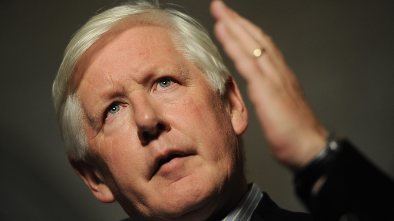 Interim Liberal leader Bob Rae speaks to reporters in the foyer of the House of Commons on Parliament Hill in Ottawa on Tuesday, Aug. 30, 2011. (Sean Kilpatrick / THE CANADIAN PRESS)