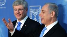 Stephen Harper and Benjamin Netanyahu