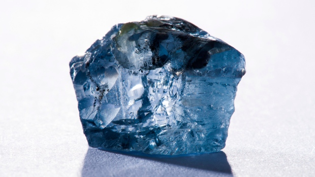 South Africa rare blue diamond