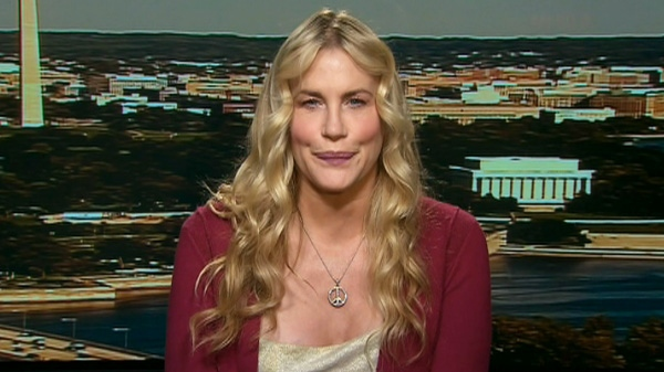 Actress and activist Daryl Hannah appears on Canada AM, Wednesday, Aug. 31, 2011.