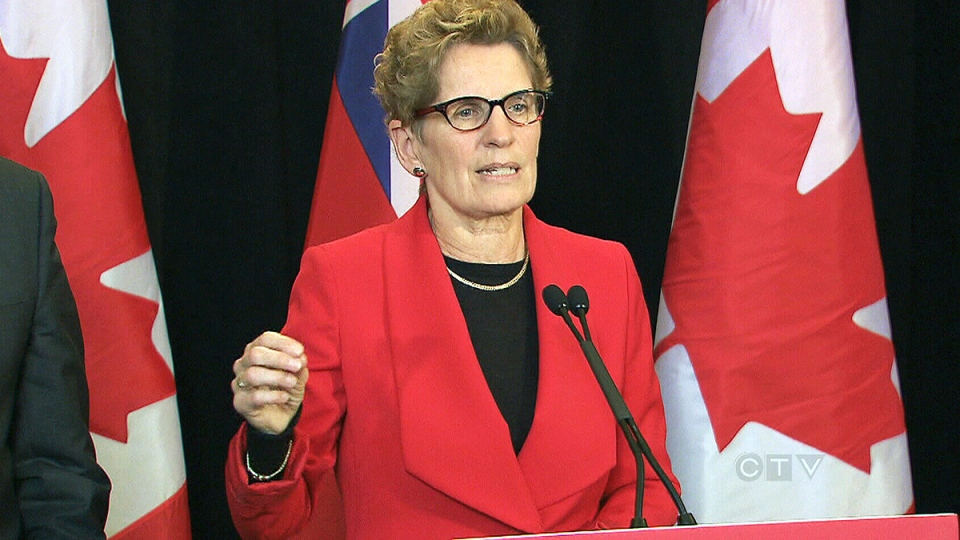 Ontario Premier Kathleen Wynne speaks about the situation with Toronto Mayor Rob Ford at a press conference, Wednesday, Jan. 22, 2014.