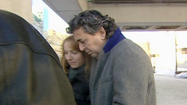 Father Joe LeClair leaves the Ottawa courthouse on Jan. 22, 2014.