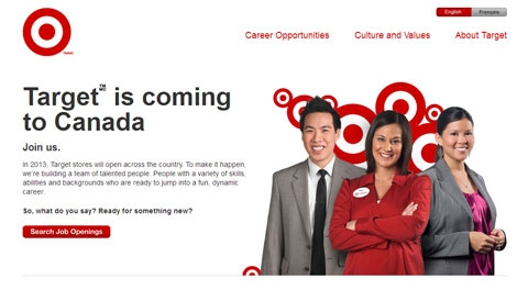 Target Canada is looking for 'people with a variety of skills, abilities and backgrounds who are ready to jump into a fun, dynamic career.'