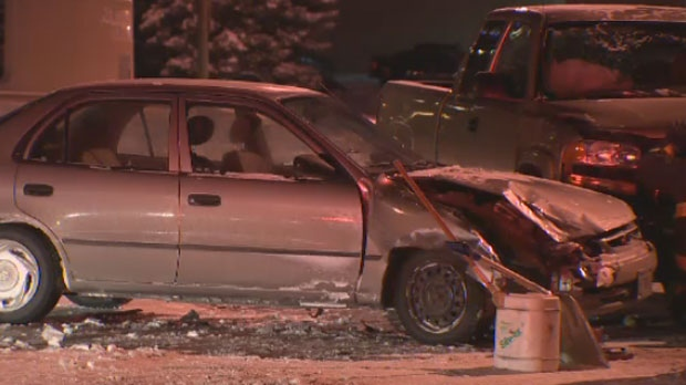 A file image shows a crash on Portage Avenue in Winnipeg, Man.