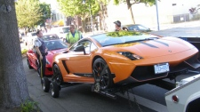 Mounties seized 13 luxury vehicles that were allegedly speeding excessively through Metro Vancouver in broad dayling. Aug. 31, 2011. (Peace Arch News)