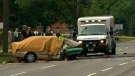 Police say a driver is dead after colliding with a telephone pole on Midland Avenue on Thursday, Sept. 1, 2011.