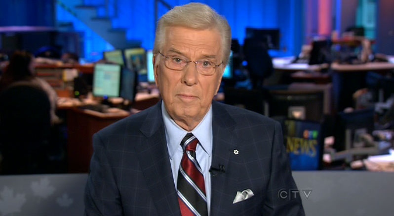 Lloyd Robertson signs off from CTV National News for the last time on Thursday, Sept. 1, 2011.