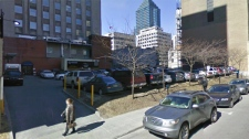 The site of the Blue Bird Cafe fire is now a parking lot. (Image Google maps)