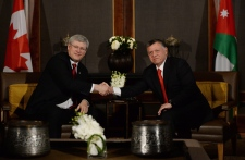 Harper and King Abdullah