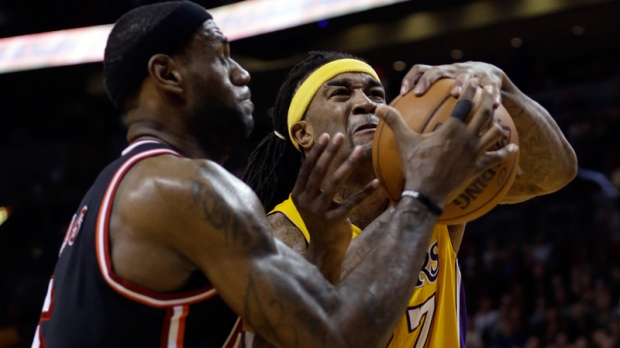Jordan Hill and LeBron James in Miami