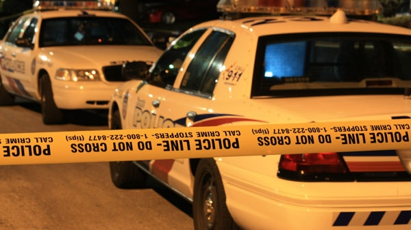 Toronto police cruisers at the scene of a shooting in Etobicoke on Wednesday, Aug. 31, 2011.
