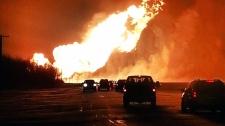 Pipeline explosion in Manitoba
