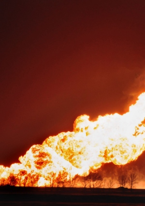 Pipeline explodes, sending flames into Manitoba sk