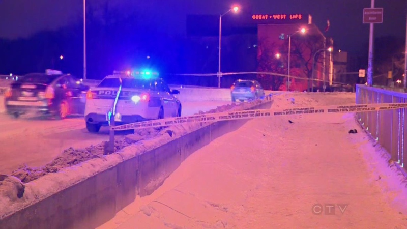 Around 11:30 p.m. on Jan. 24, emergency crews and officers responded to the Osborne Street Bridge area for a report of an assault. An 18-year-old man died. (file image)