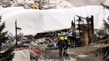 Searching for victims after Quebec fire