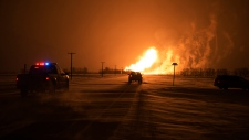 Pipeline explodes in southern Manitoba
