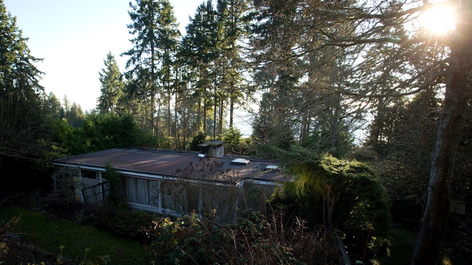 The Binning Residence national historic site is pictured in West Vancouver, B.C., on Friday, Jan. 24, 2014. (Darryl Dyck / THE CANADIAN PRESS)