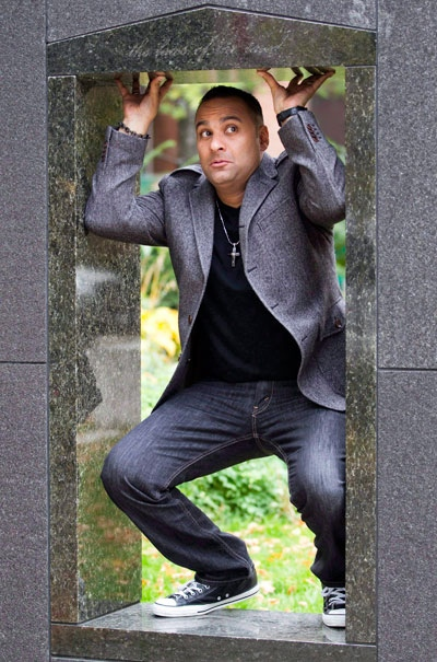 Russell Peters poses for a photo in Toronto on Tuesday, Oct. 25, 2010. (Frank Gunn / THE CANADIAN PRESS)